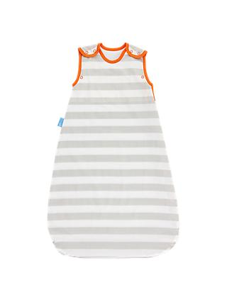 Grobag Insect Shield Stripe Grobag, 0.5 Tog, Grey