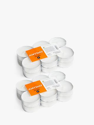 House by John Lewis Maxi Tealights, Pack of 12 x 2