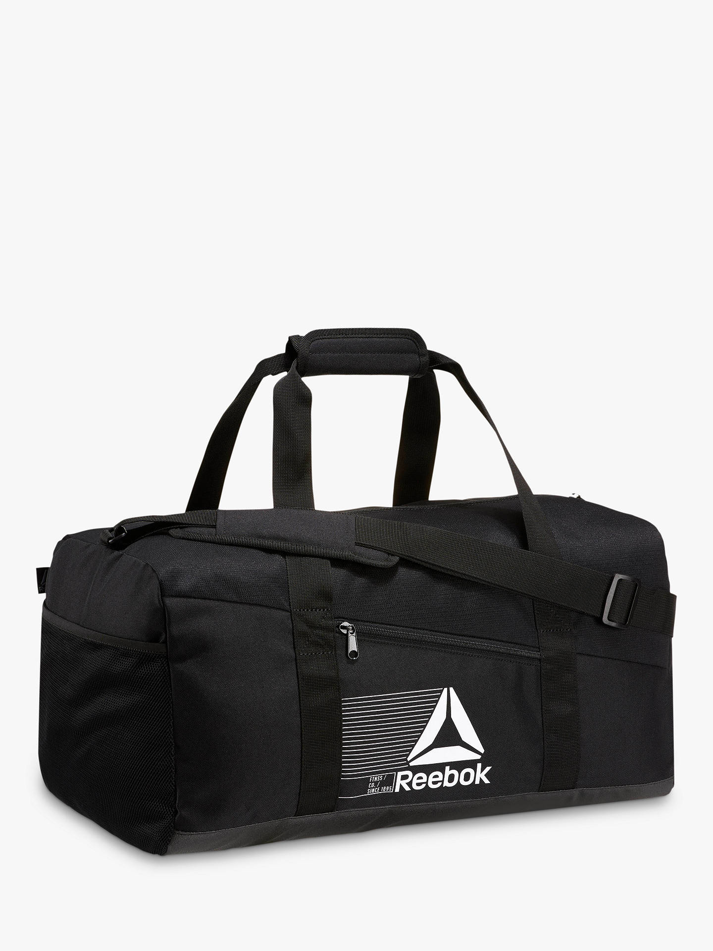 BuyReebok Active Foundation Grip Duffle Bag, Medium, Black Online at  johnlewis.com