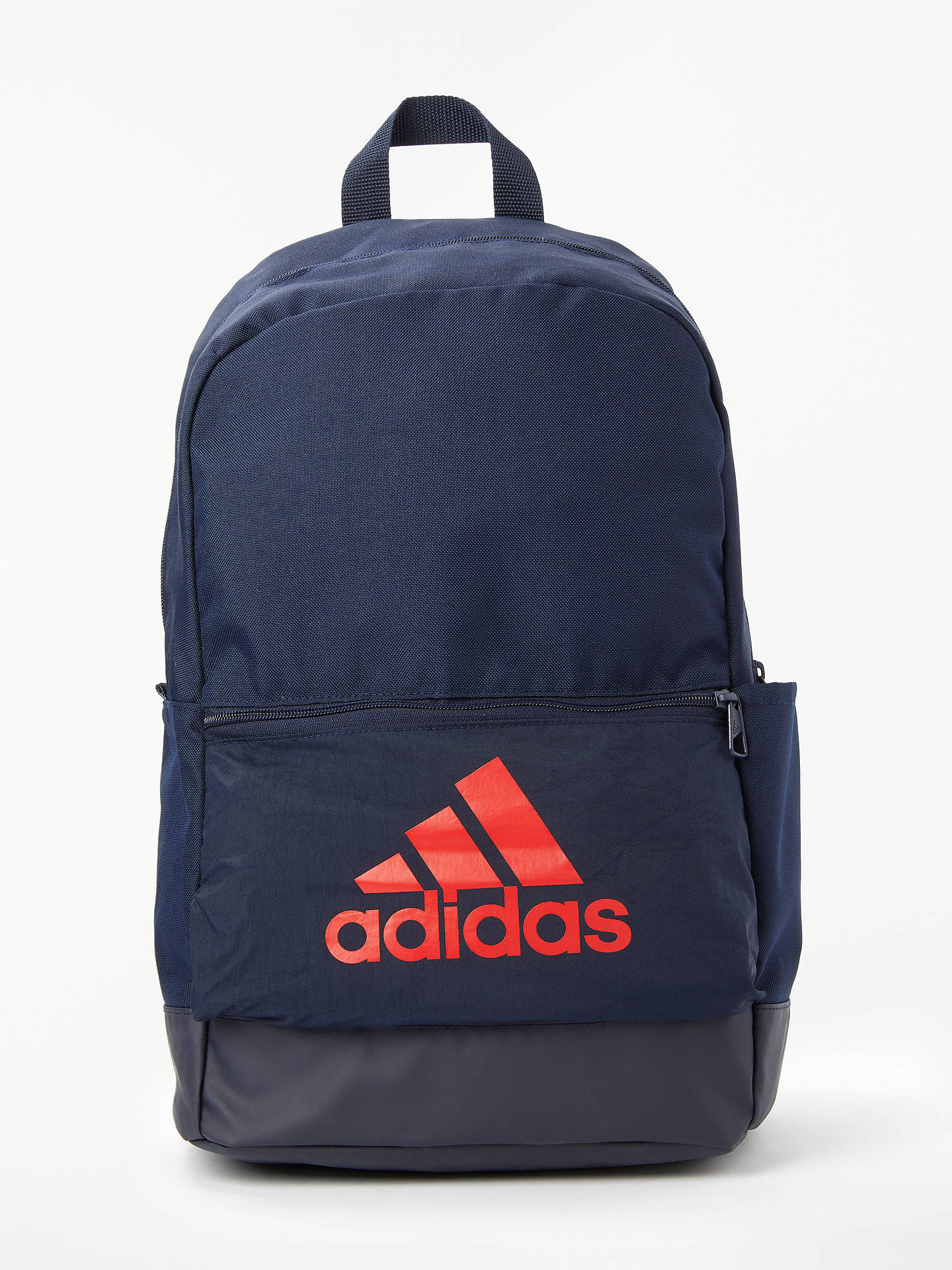 9a2f26774f Buy adidas Classic Badge of Sport Backpack, Legend Ink/Active Red Online at  johnlewis ...