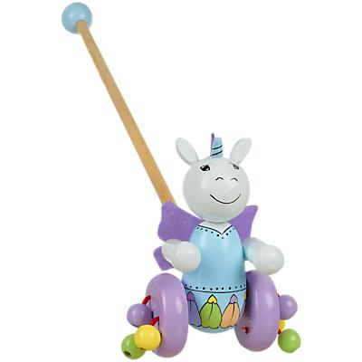 Image of Orange Tree Unicorn Push Along Wooden Toy