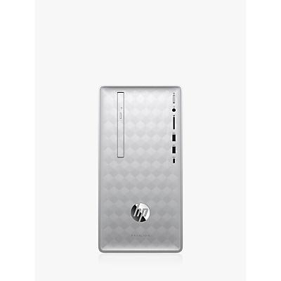 Image of HP Pavilion 590-p0037na Desktop PC, AMD Ryzen 3, 4GB RAM, 1TB HDD, Natural Silver