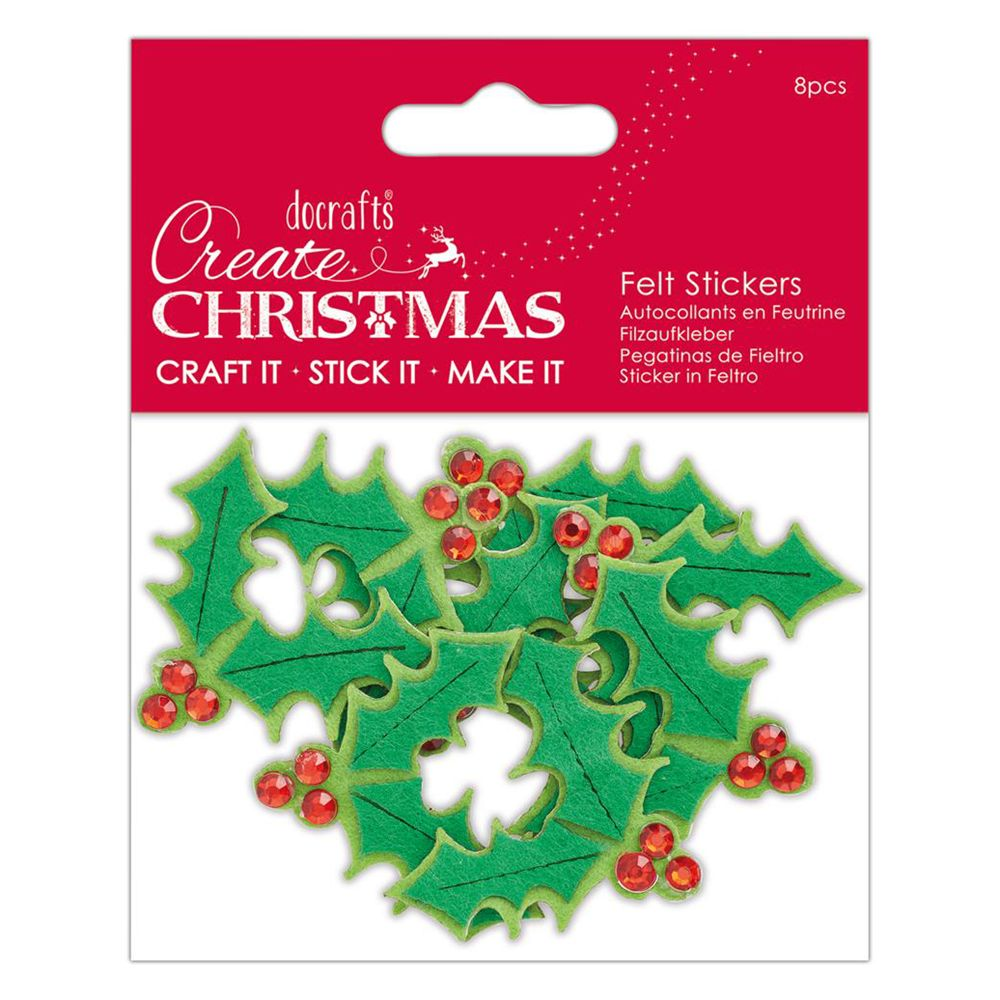 CHRISTMAS DOCRAFT STICKERS CRAFT IT STICK IT IN FESTIVE HOUSES