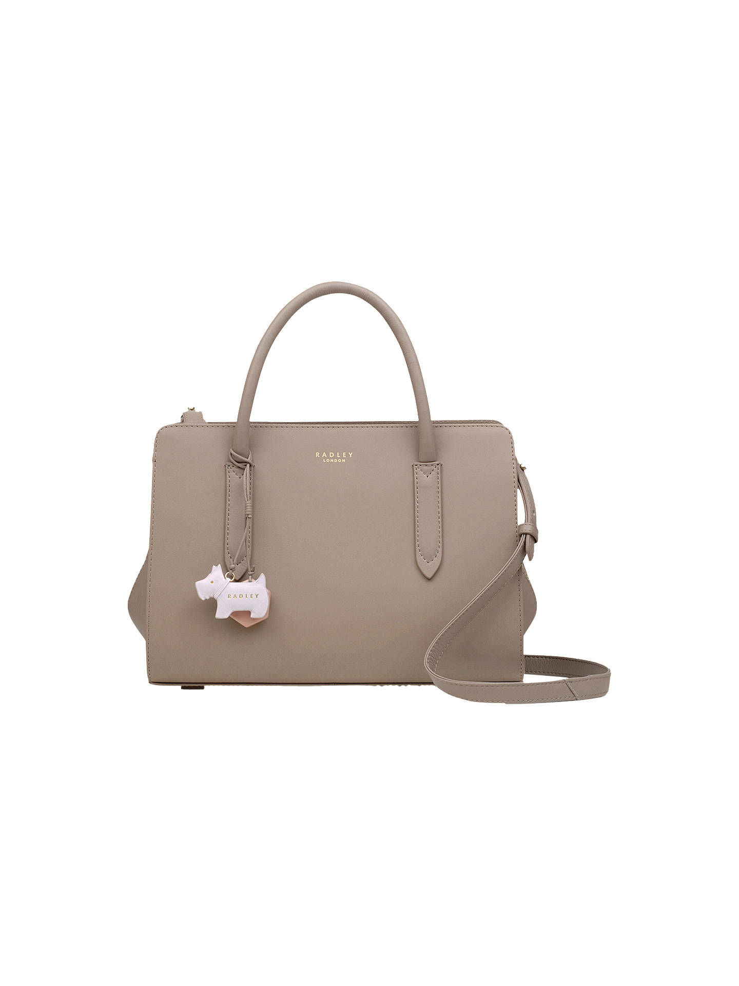 Radley Liverpool Street Medium Leather Grab Bag Brown Online At Johnlewis