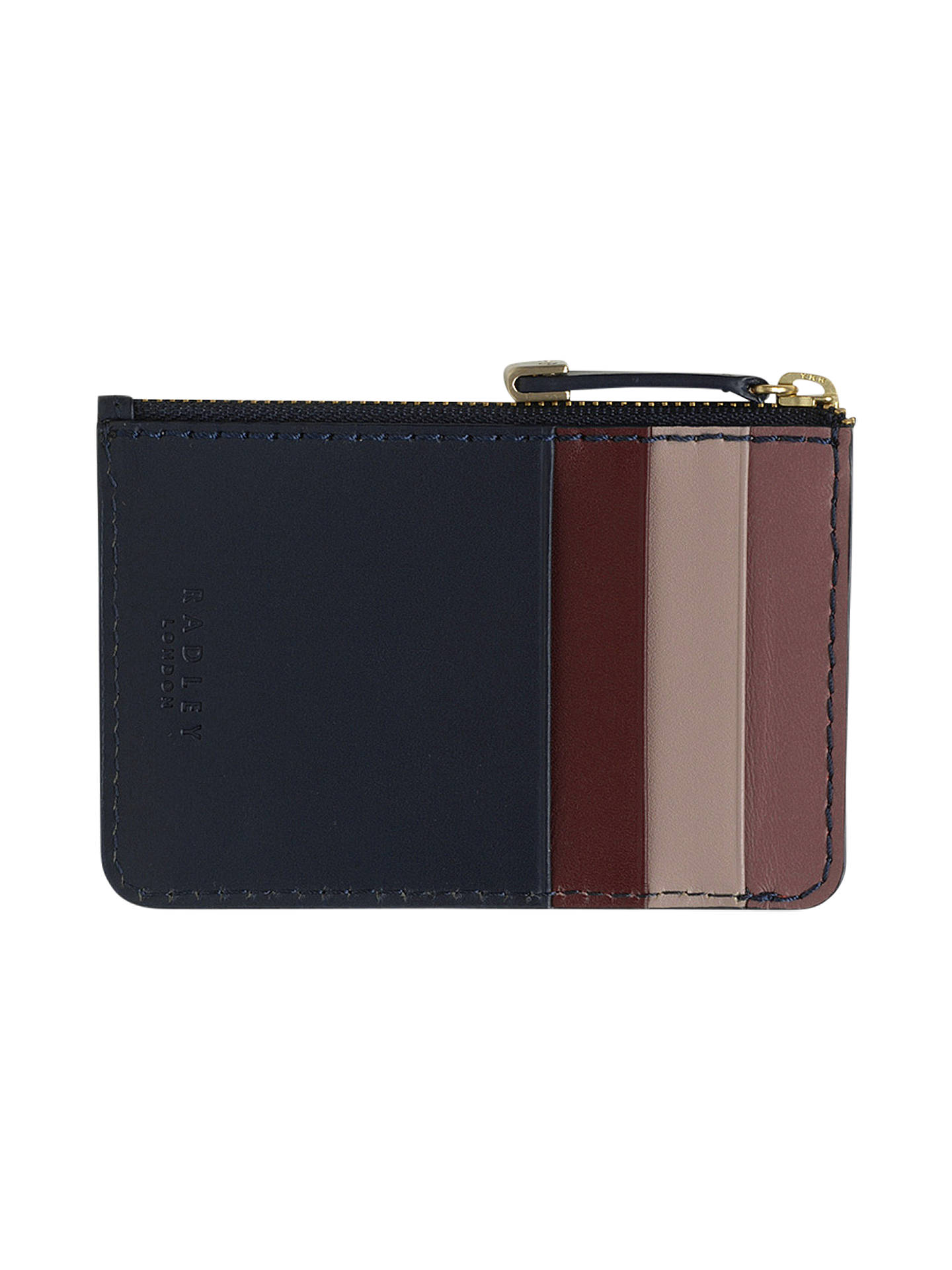 Buy Radley Shadow Leather Small Zip Top Coin Purse, Ink Blue Online at johnlewis.com