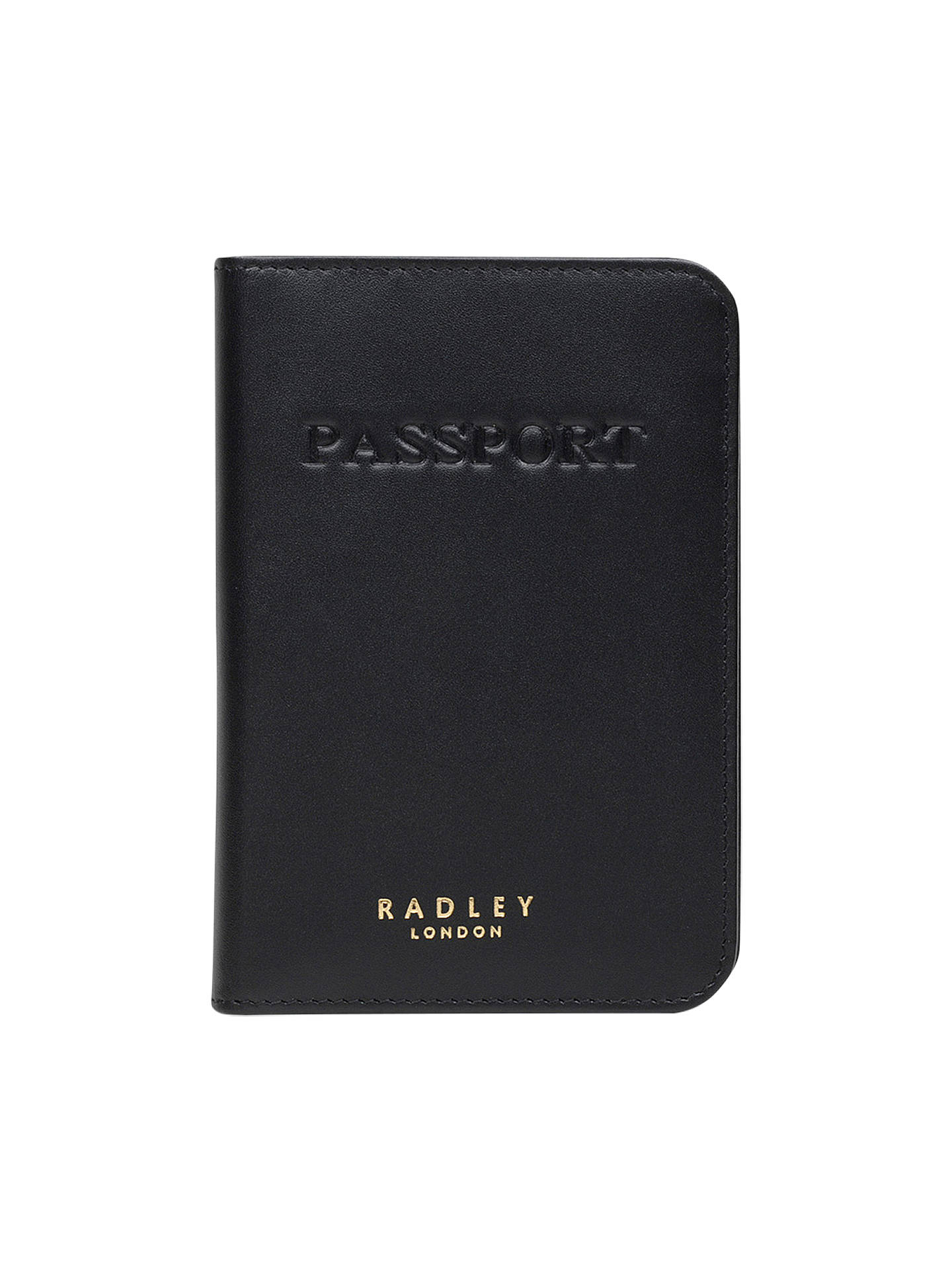 BuyRadley Arlington Leather Passport Cover, Black Online at johnlewis.com