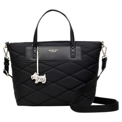 Radley Charleston Quilted Fabric Medium Grab Bag, Black