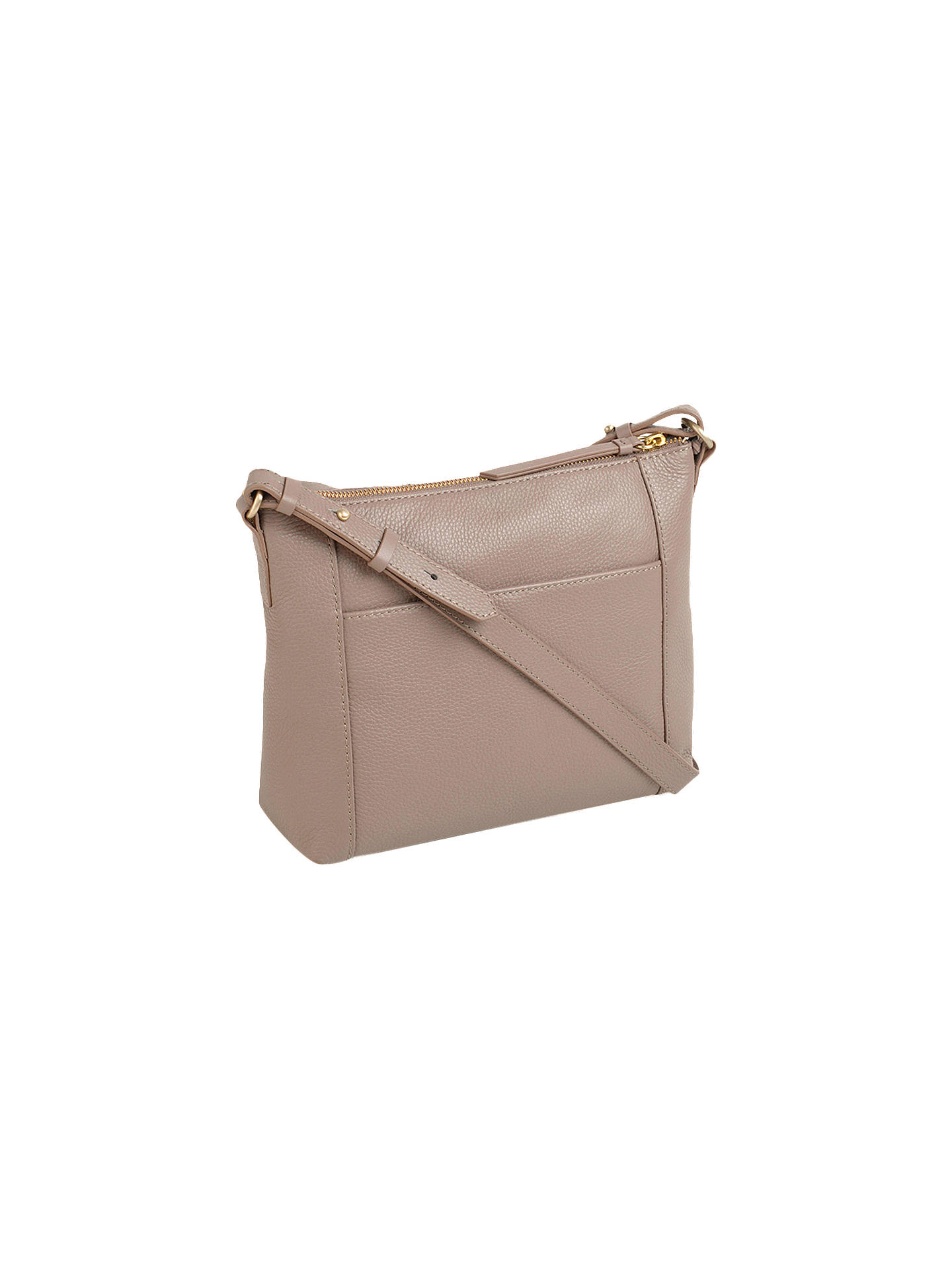 Buy Radley Fountain Road Small Leather Zip Top Cross Body Bag, Brown Online at johnlewis.com