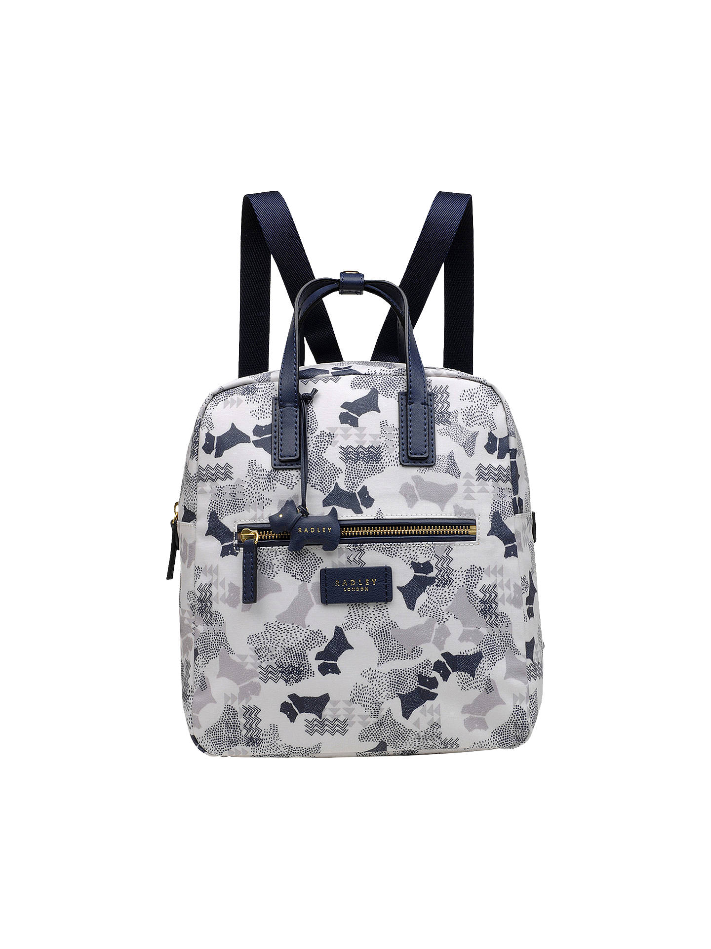 Buy Radley Data Dog Medium Backpack, Chalk Online at johnlewis.com
