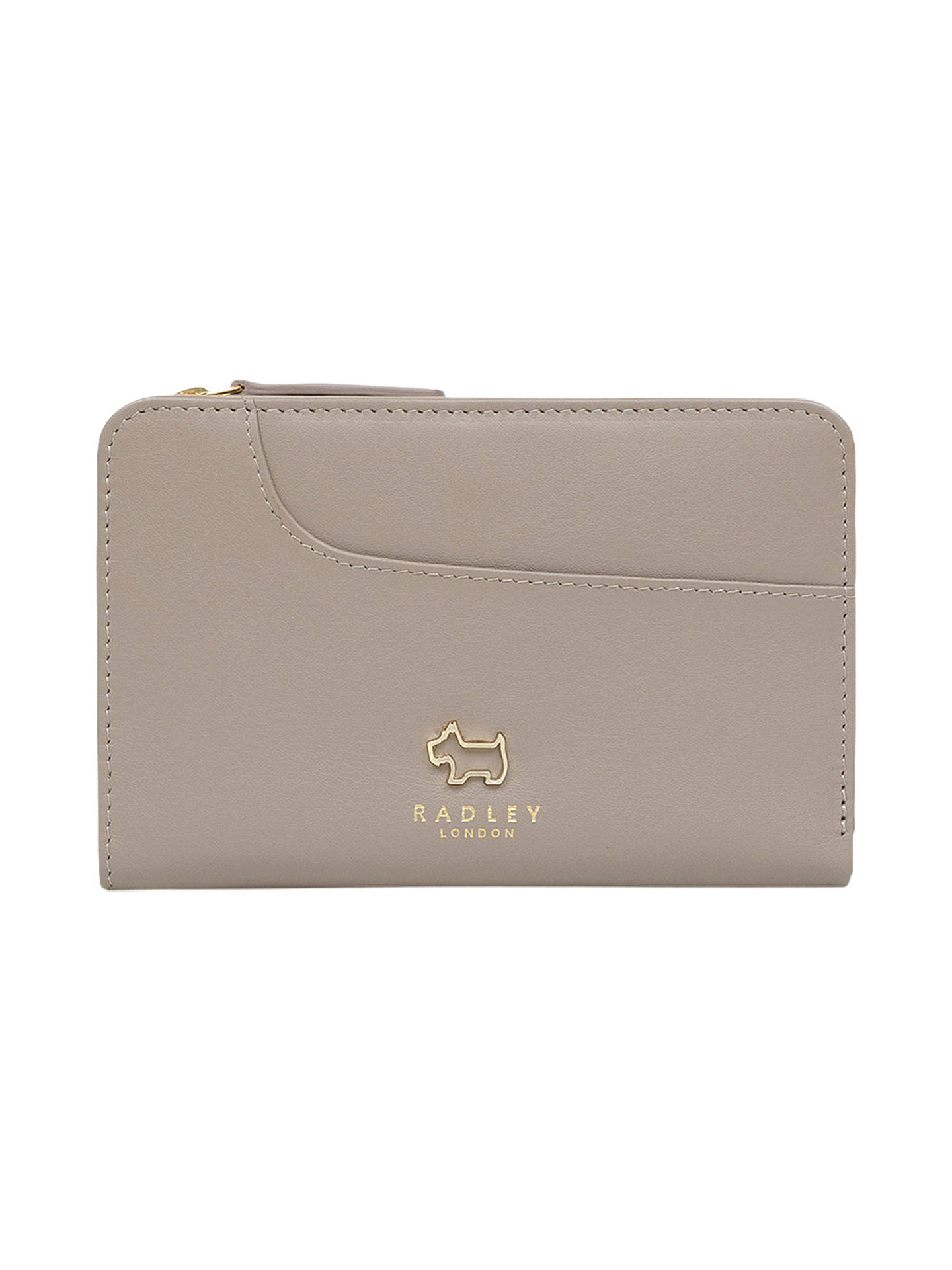 BuyRadley Pockets Leather Medium Zip-Top Purse, Brown Online at johnlewis.com