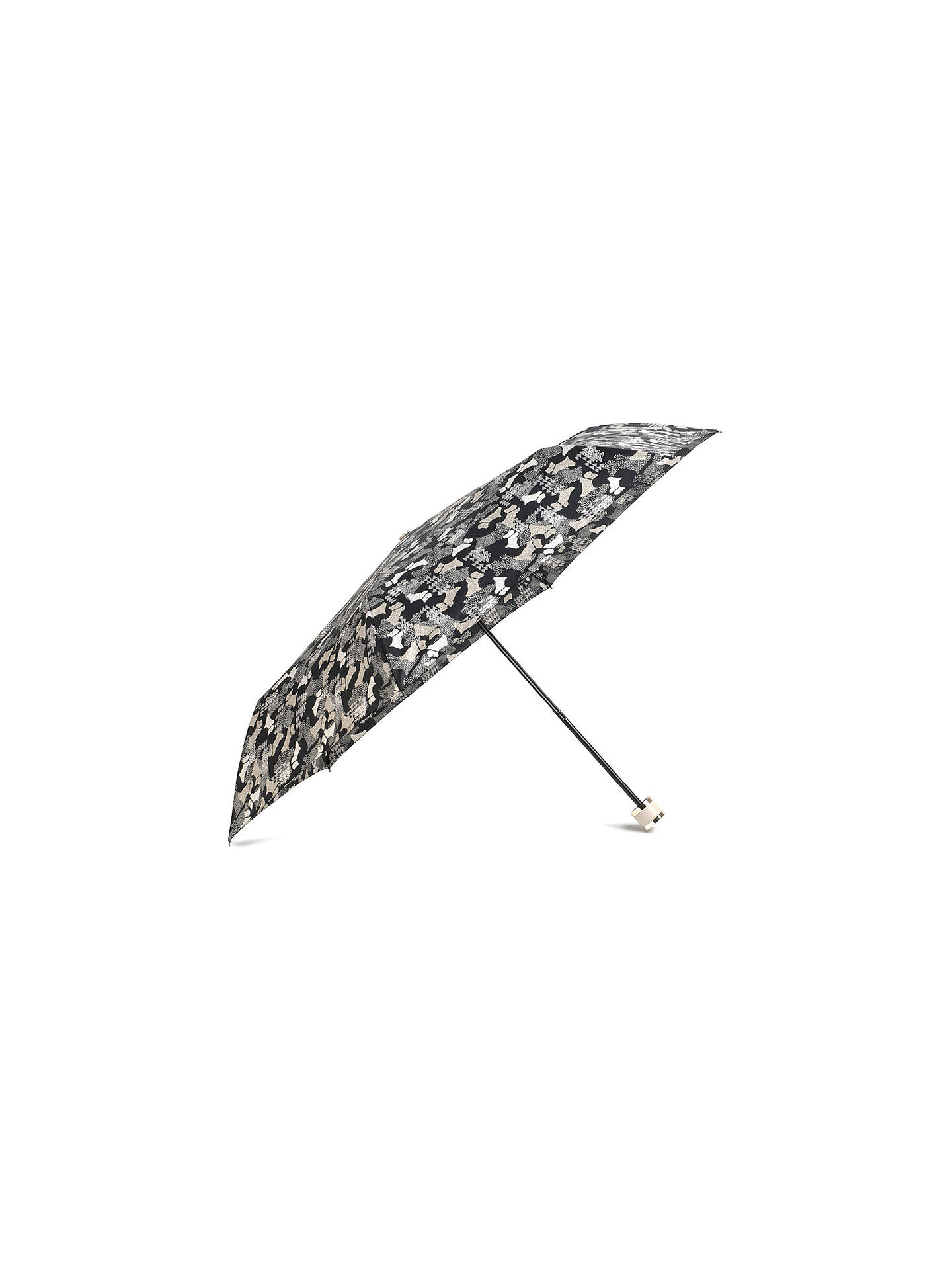 Buy Radley Data Dog Mini Telescopic Umbrella, Black Online at johnlewis.com