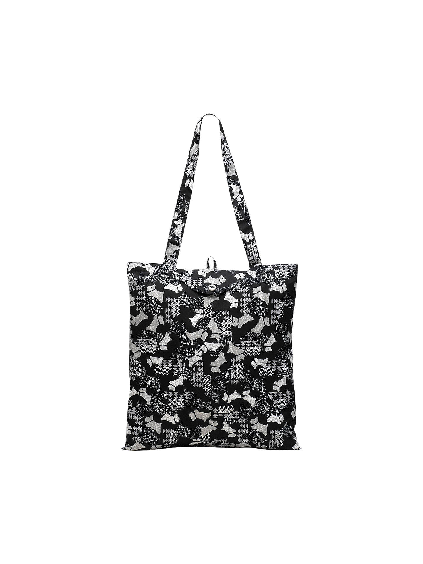 BuyRadley Dog Foldaway Tote Bag, Black Online at johnlewis.com