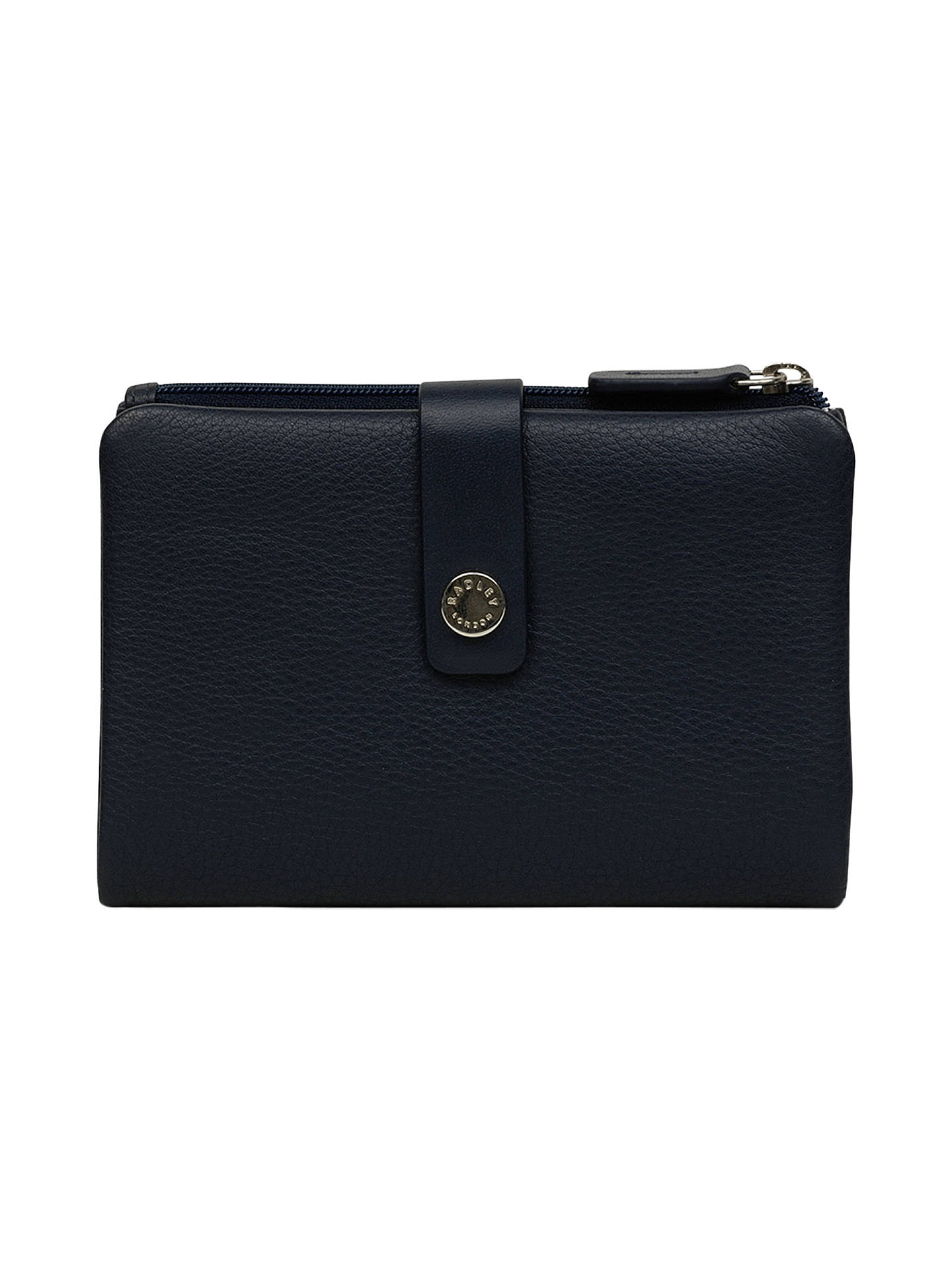 Buy Radley Larks Wood Leather Medium Folded Purse, Ink Blue Online at johnlewis.com