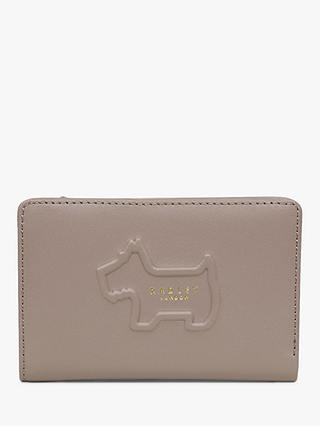Buy Radley Shadow Leather Medium Top Zip Purse, Brown Online at johnlewis.com