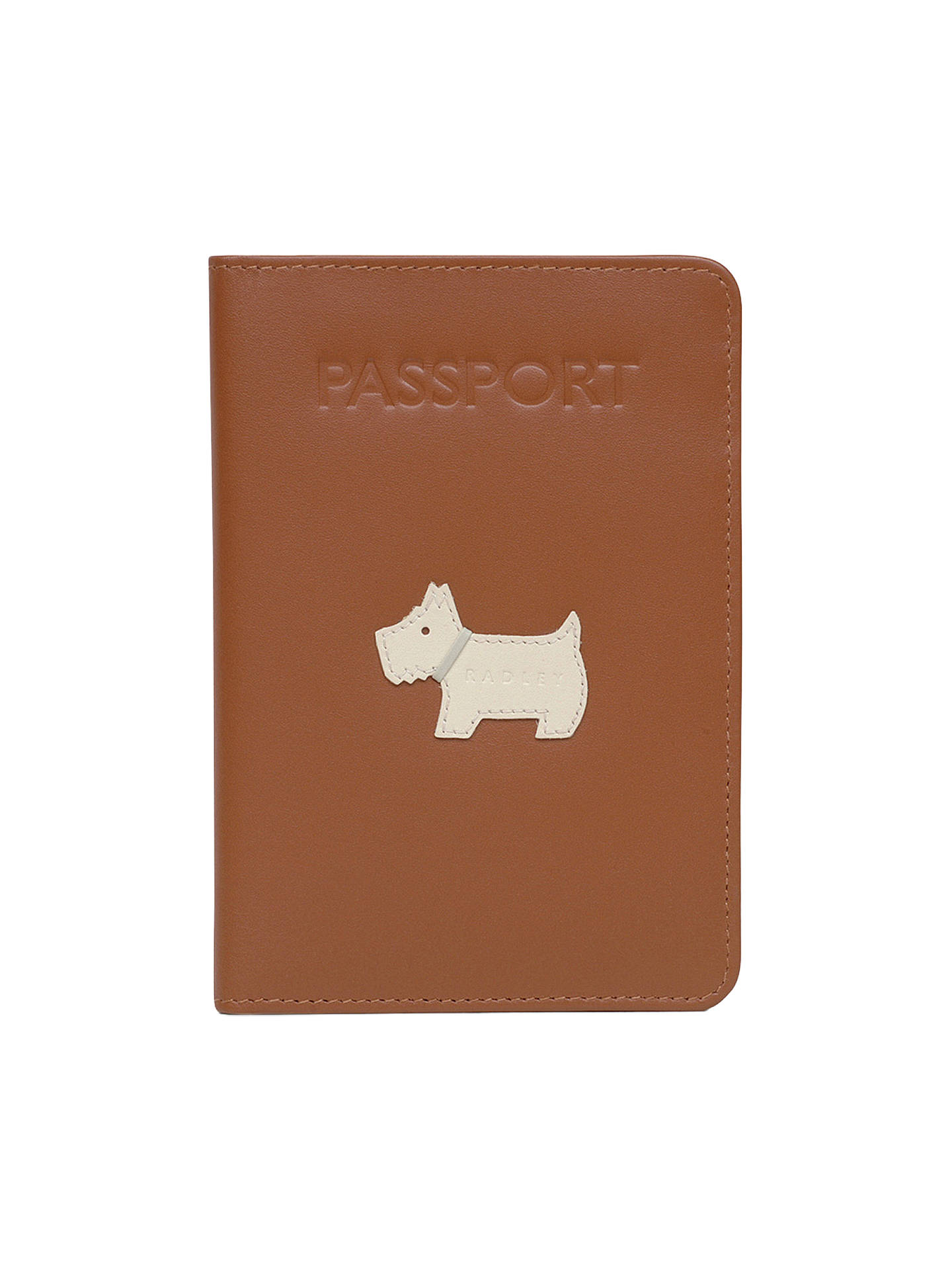 Buy Radley Heritage Dog Leather Passport Cover, Tan Online at johnlewis.com