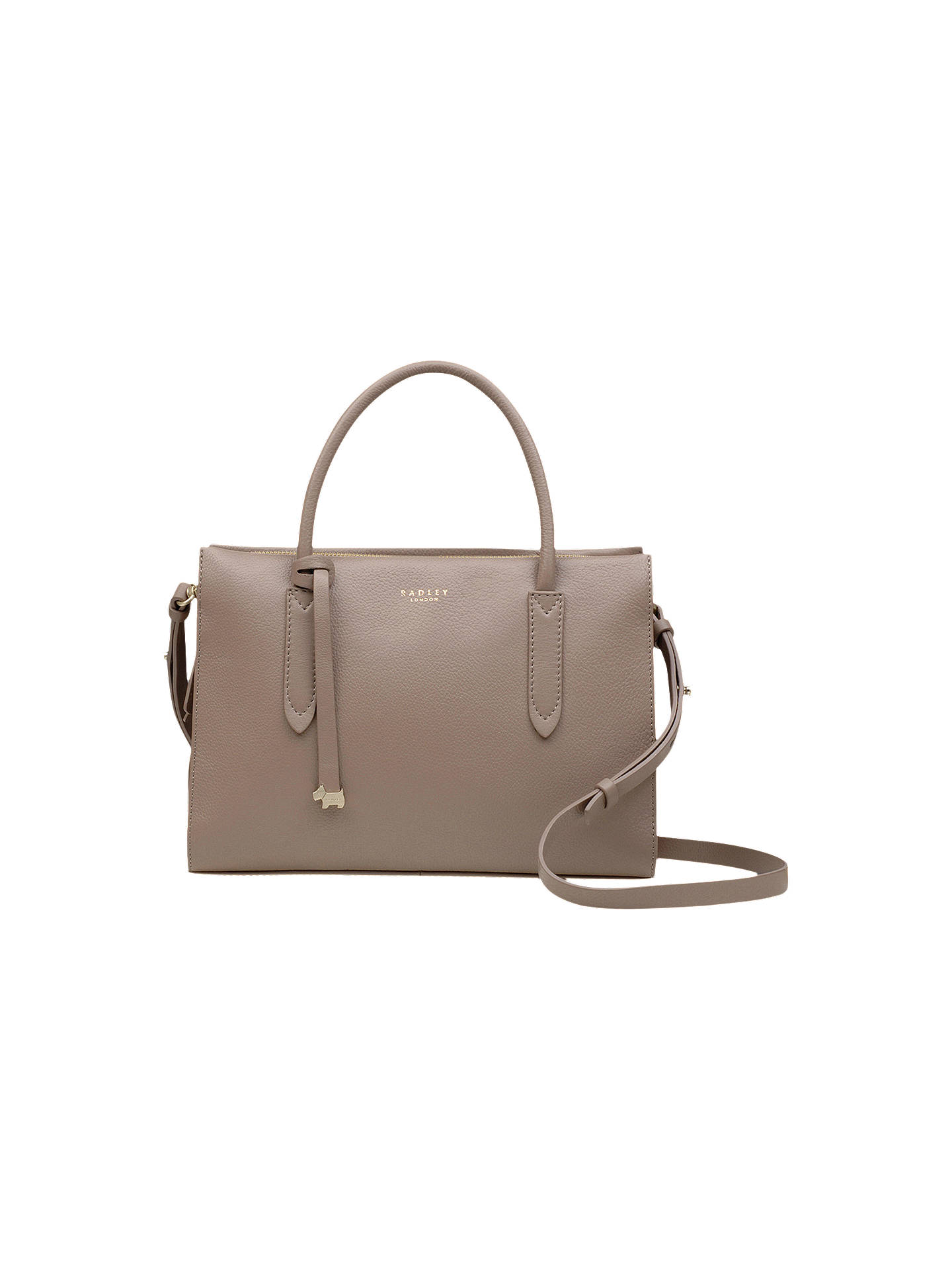 Buy Radley Arlington Court Leather Medium Grab Bag, Brown Online at johnlewis.com