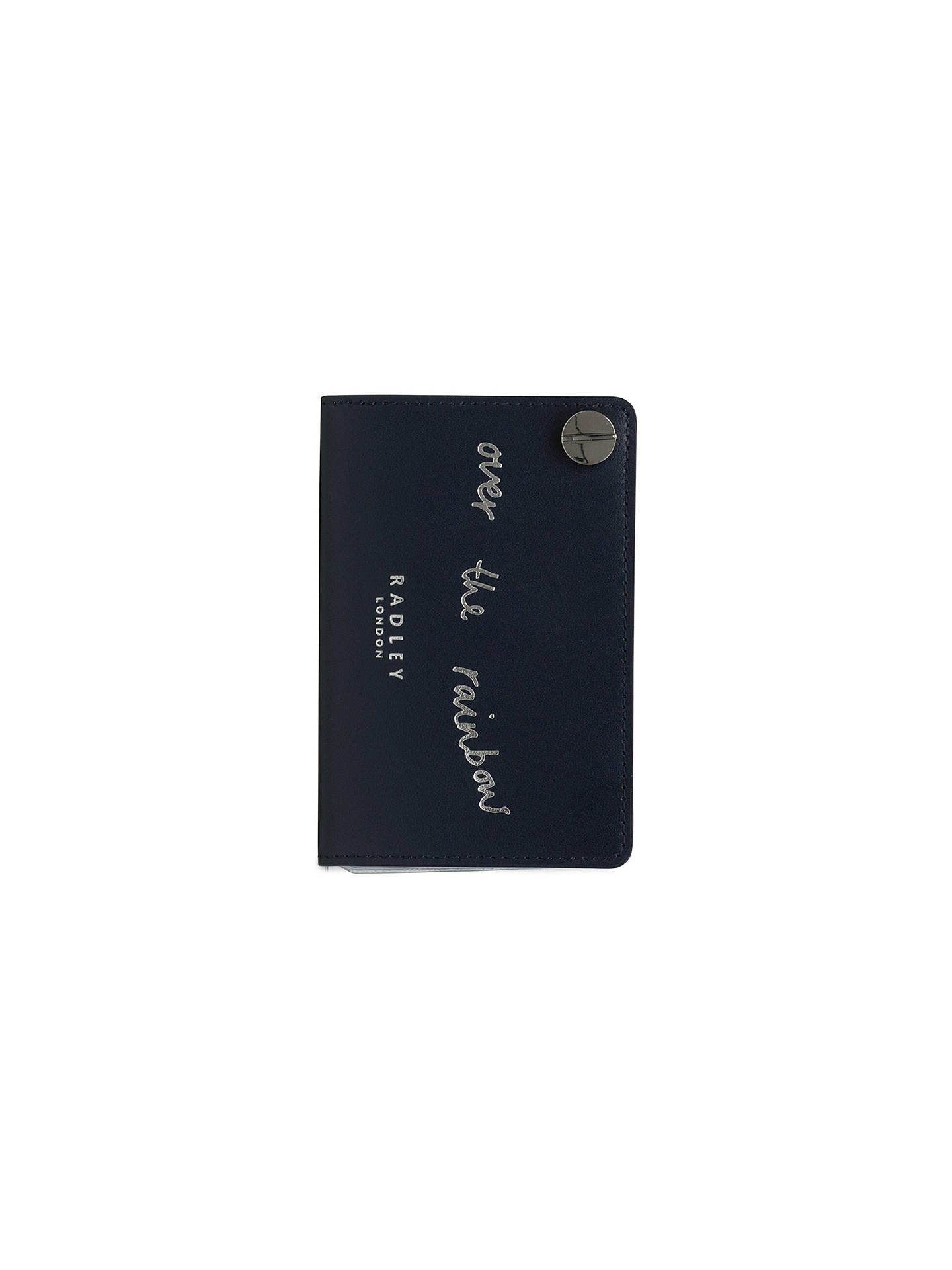 BuyRadley Follow Me Leather Card Holder, Ink Blue Online at johnlewis.com