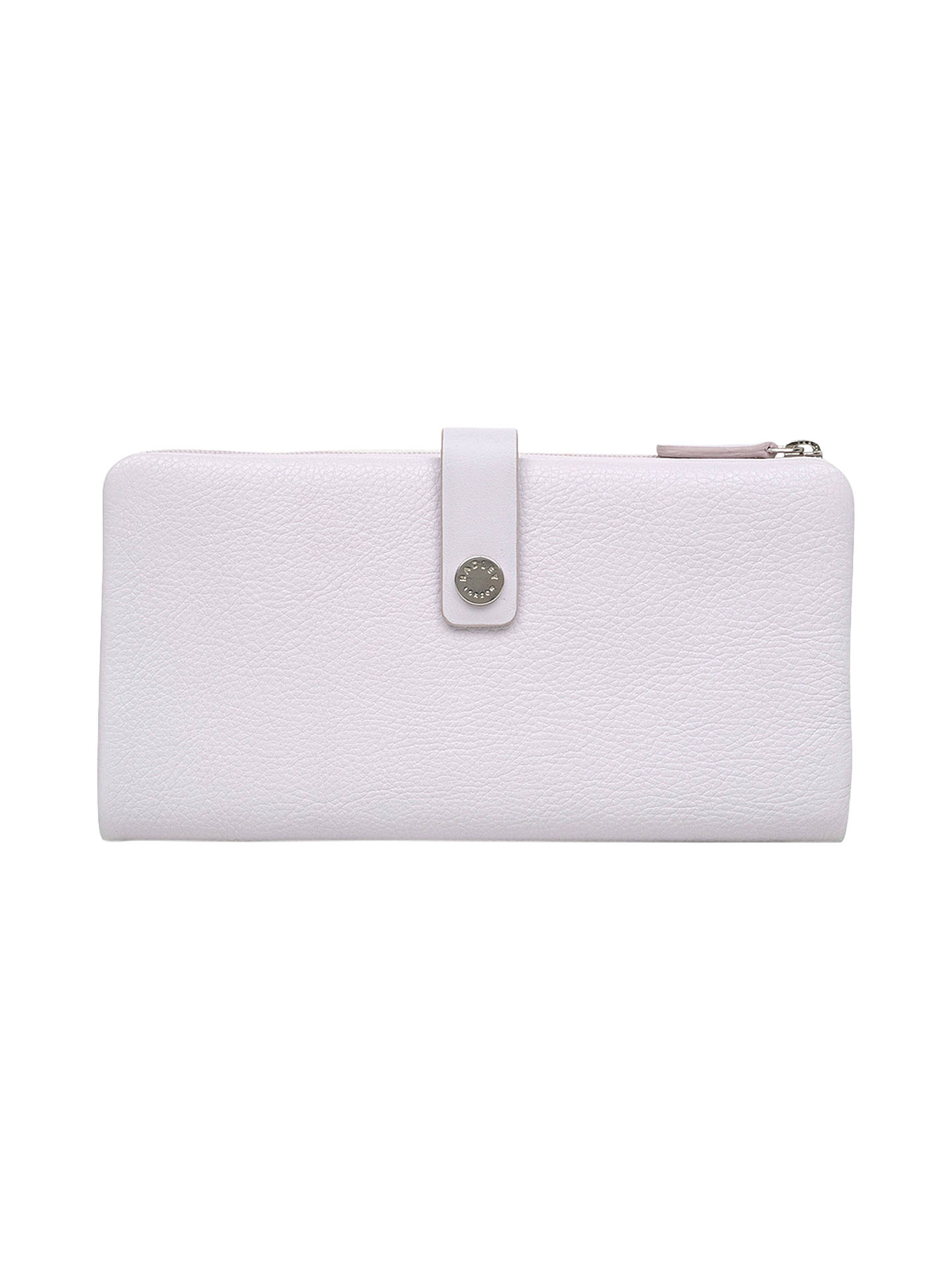 BuyRadley Larks Wood Leather Large Folded Matinee Purse, Pale Lilac Online at johnlewis.com