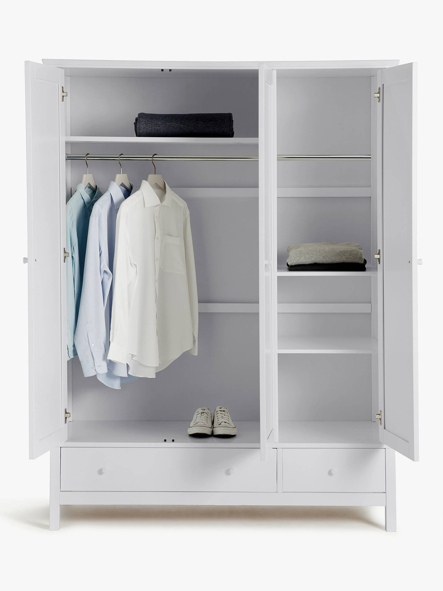 John Lewis & Partners Wilton 3 Door Wardrobe, Grey