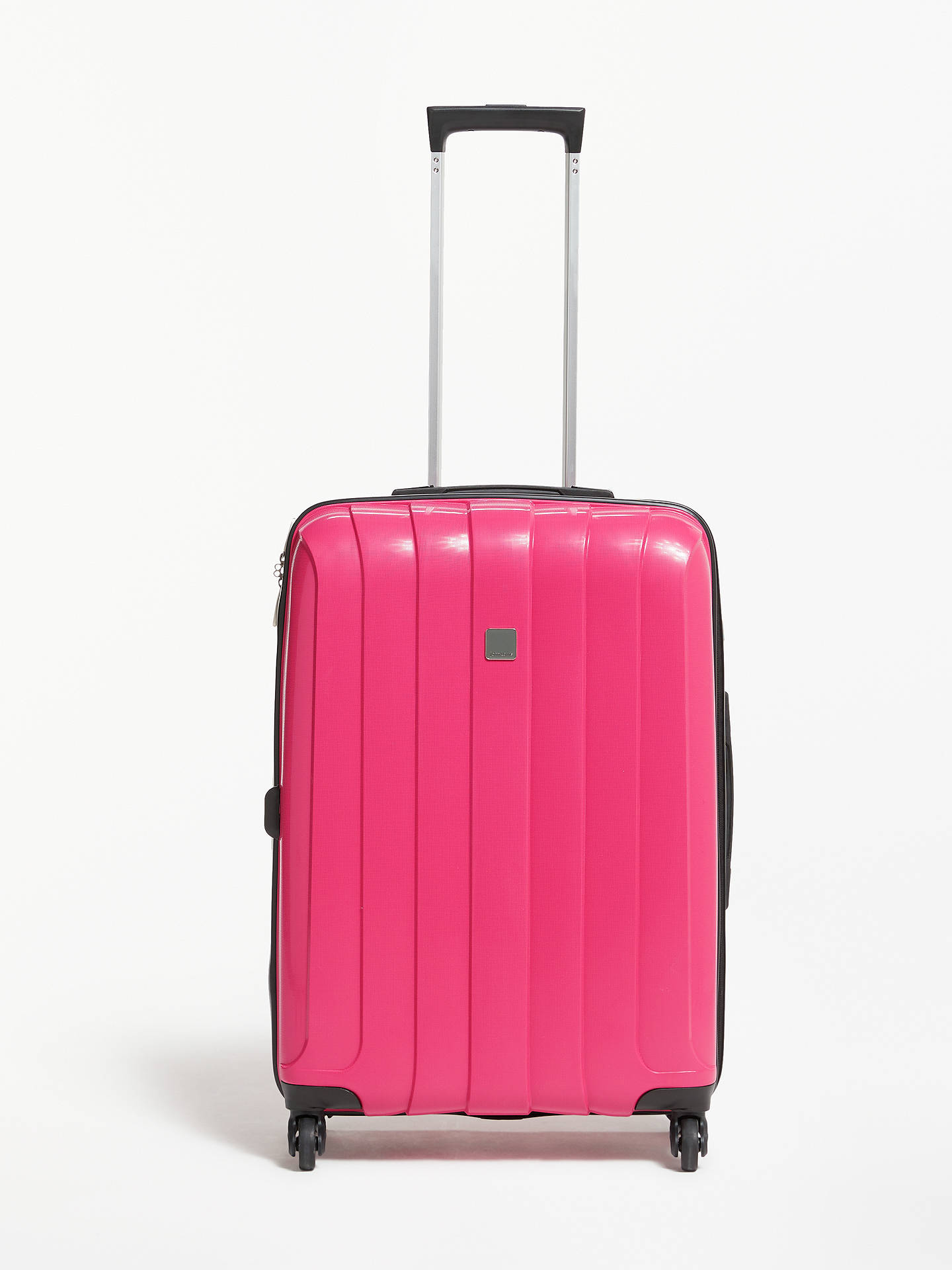 5a64e89bfc Buy John Lewis & Partners Miami 4-Wheel 65cm Medium Suitcase, Pink Online  at ...