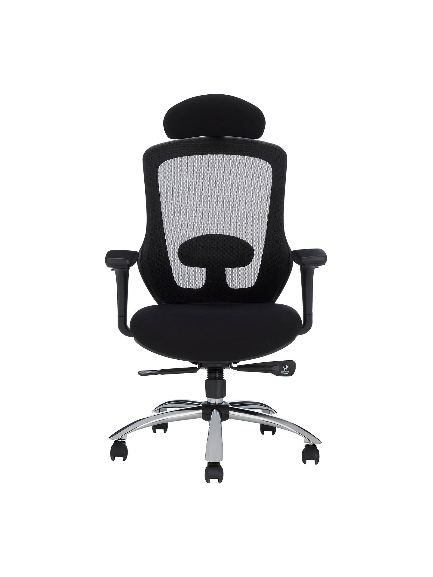 Buy John Lewis & Partners Isaac Ergonomic Office Chair, Black Online at johnlewis.com