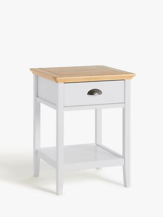 John Lewis & Partners Albany 1 Drawer Bedside Table