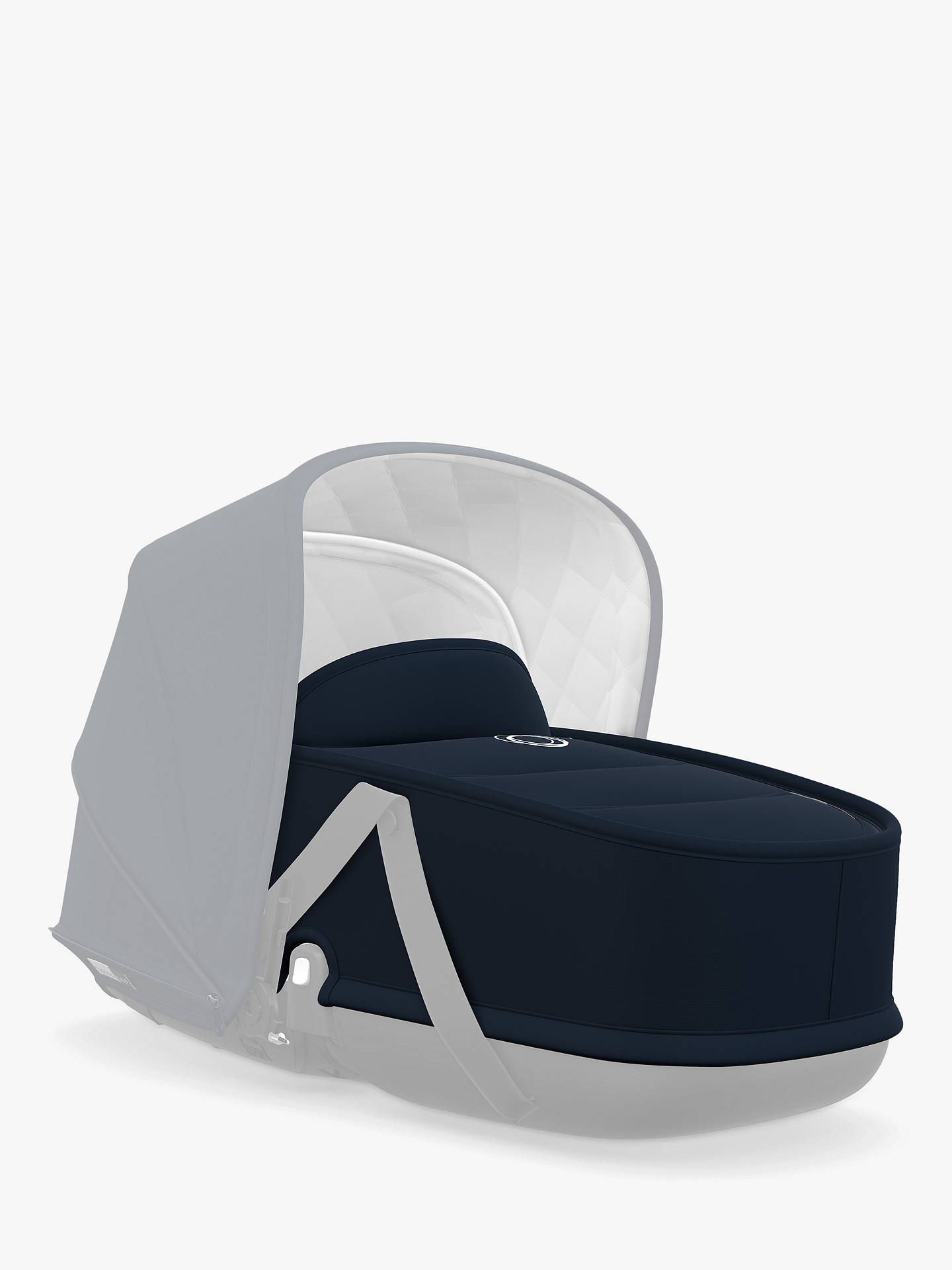 Buy Bugaboo Bee 5 Classic Collection Carrycot Fabric, Dark Navy Online at johnlewis.com