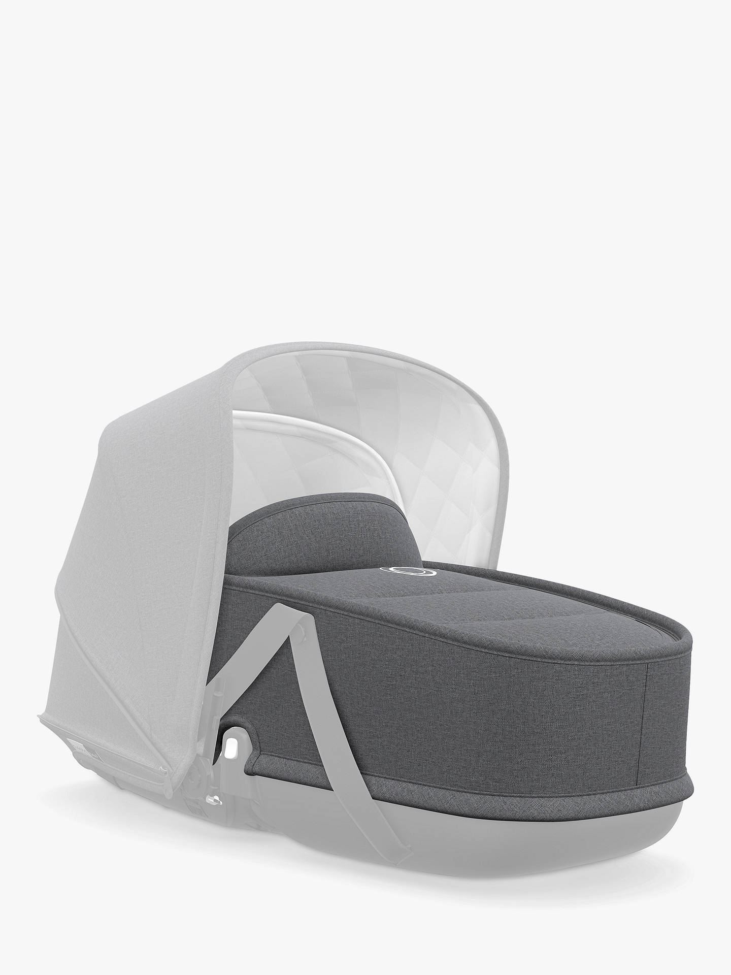 BuyBugaboo Bee 5 Carrycot Fabric, Grey Melange Online at johnlewis.com