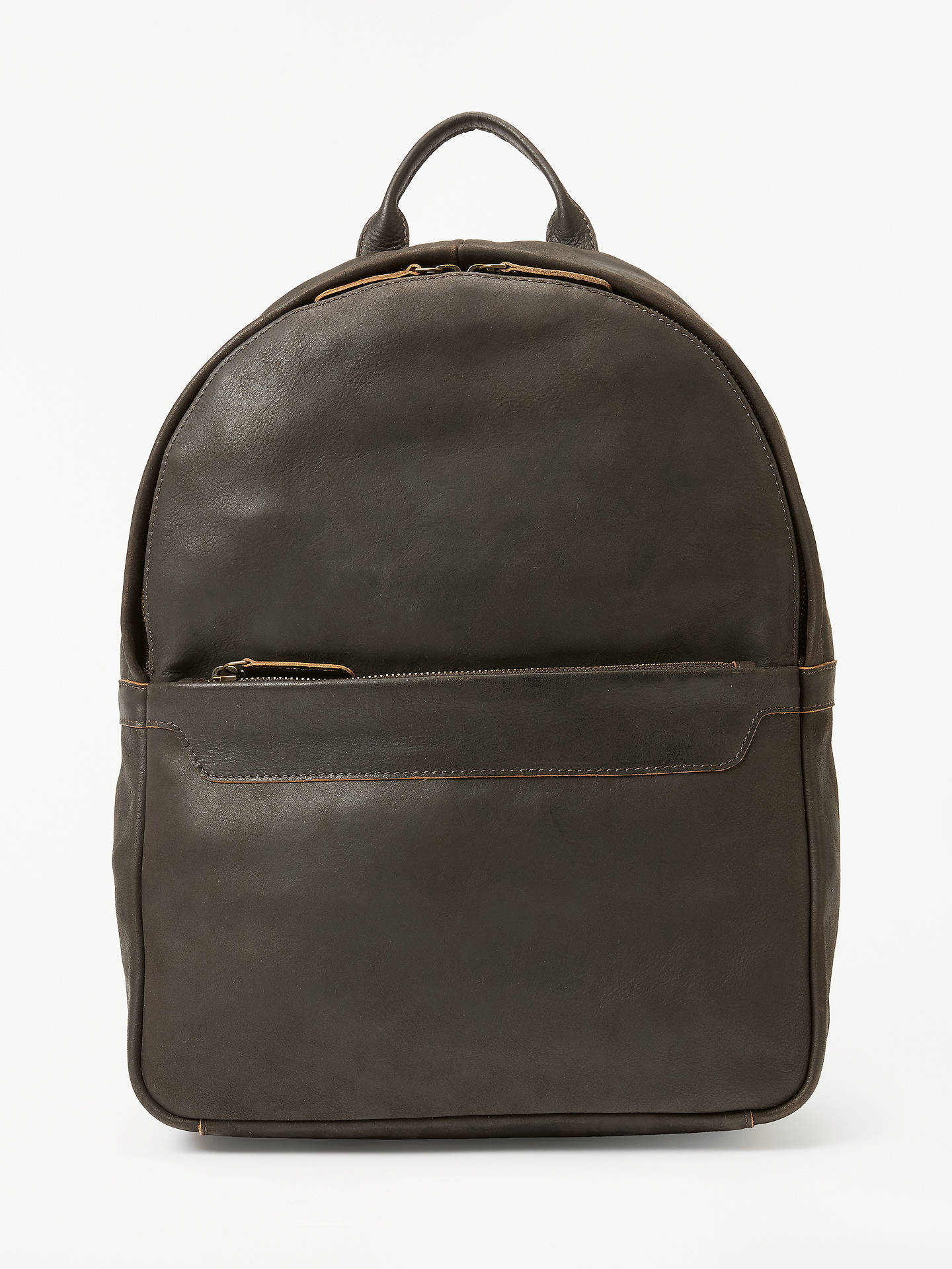 Buy John Lewis & Partners Toronto Leather Backpack, Brown Online at johnlewis.com