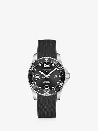 89ebd75d279 Longines L37814569 Men s Hydro Conquest Automatic Date Rubber Strap Watch