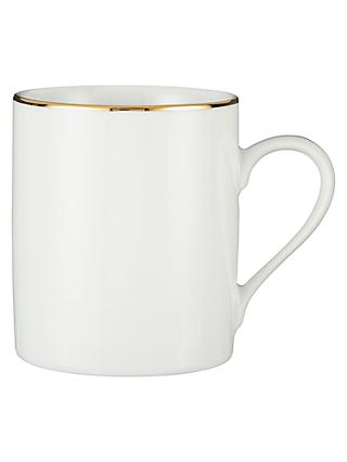 John Lewis & Partners Palazzo 18-Carat Gold Band Coffee Mug, 360ml