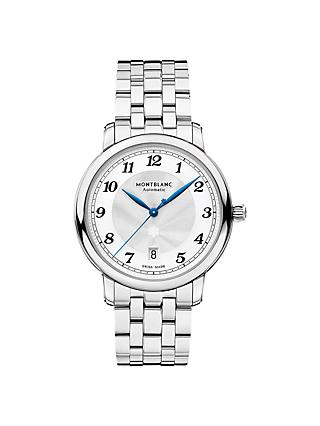 Montblanc 117323 Men's Star Legacy Automatic Date Bracelet Strap Watch, Silver