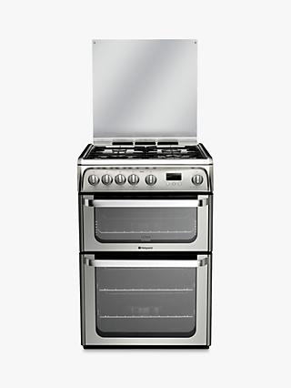 Hotpoint HUG61X Ultima Gas Cooker, Stainless Steel