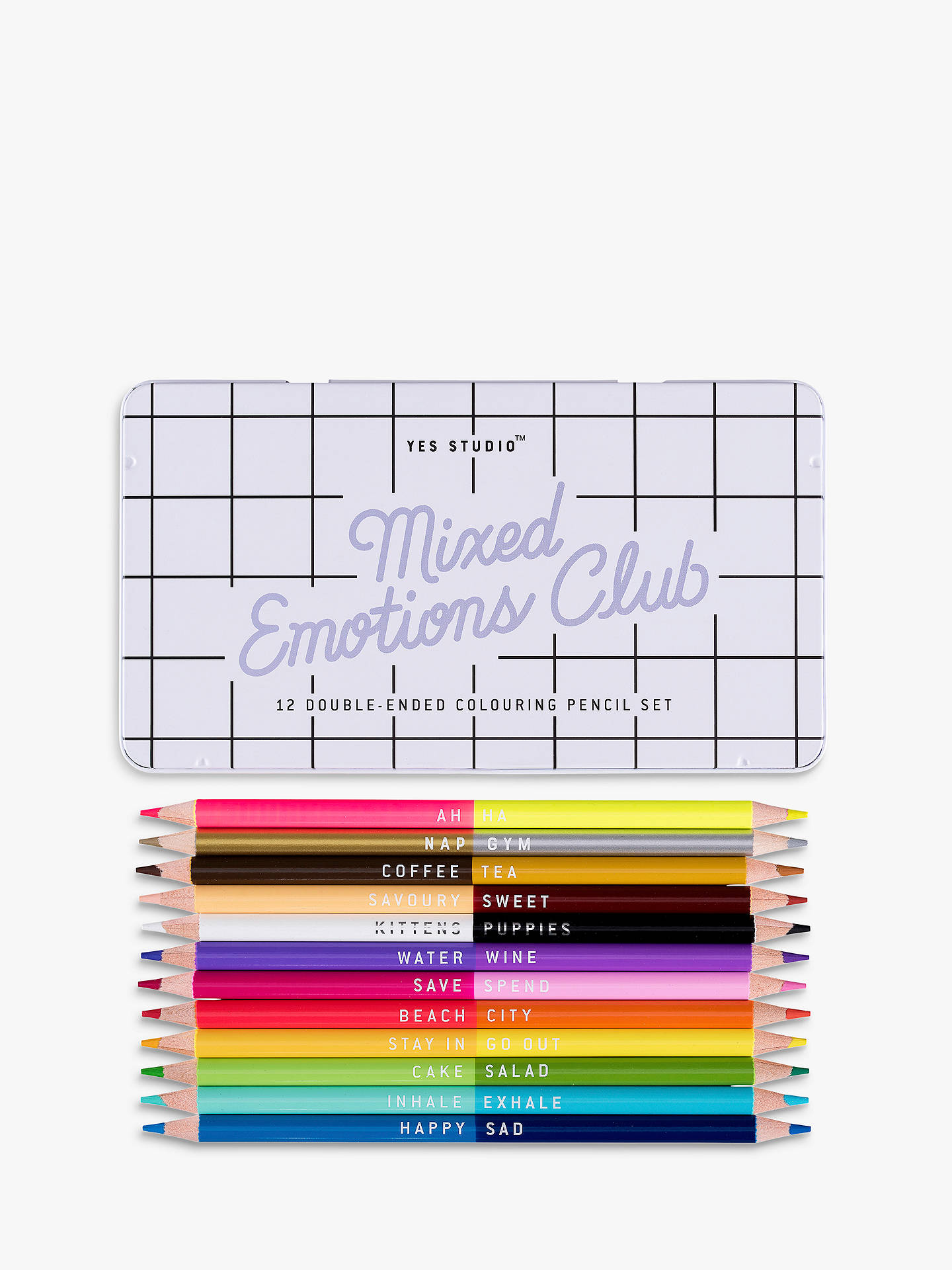 Buy yes studio mixed emotions colouring pencils online at johnlewis com