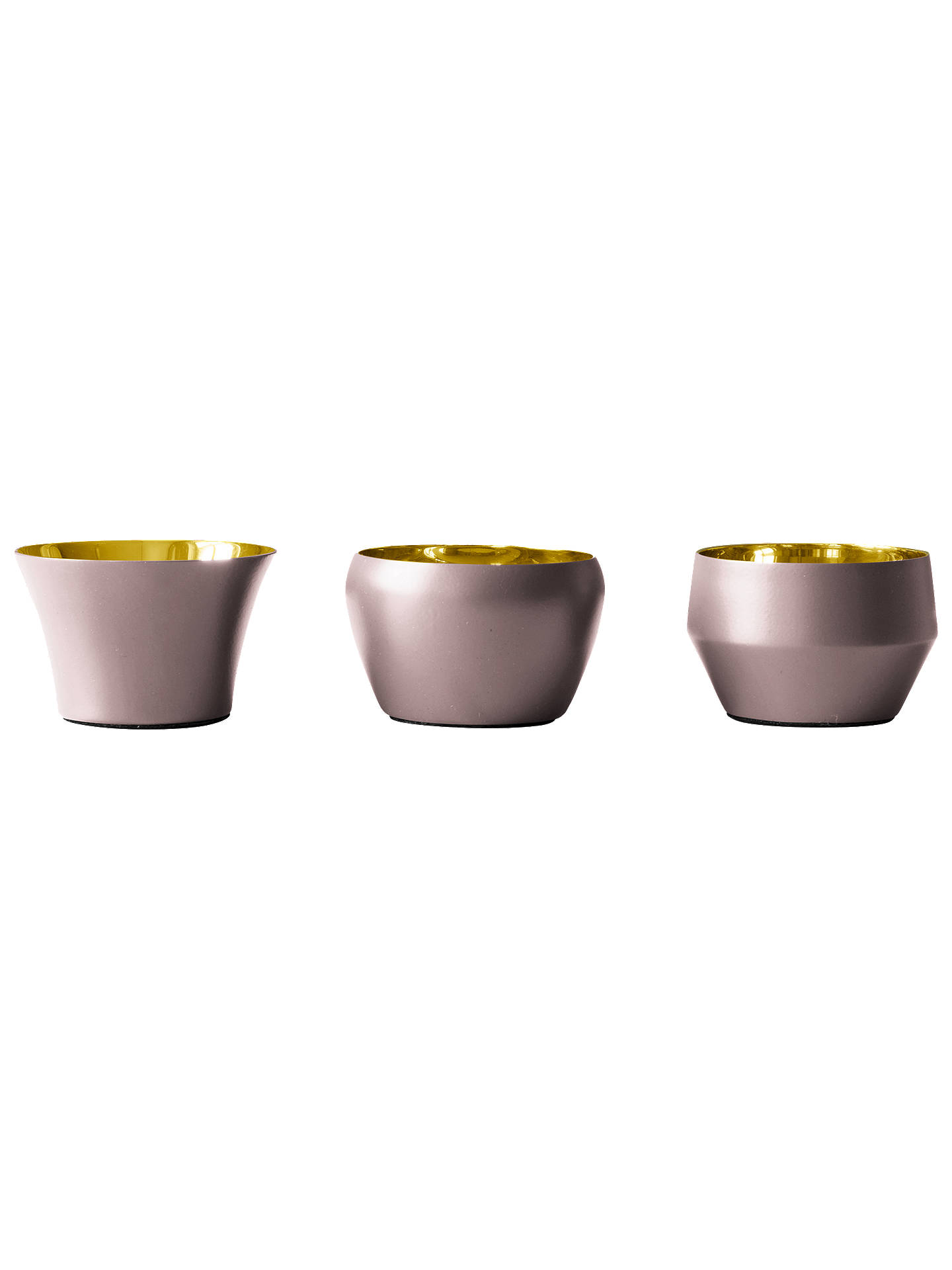 BuySkultuna Kin Tealight Holders, Set of 3, Pink Online at johnlewis.com