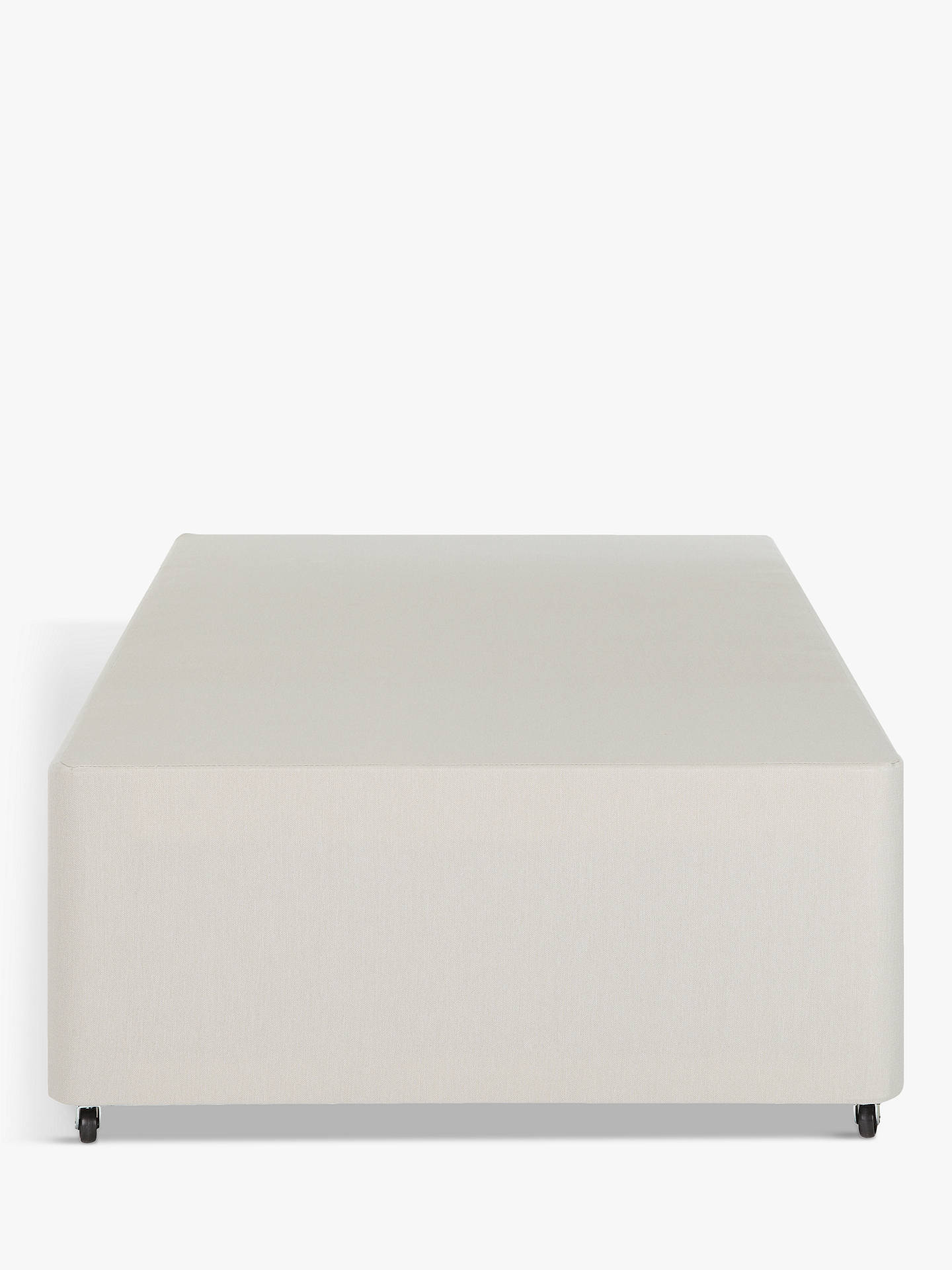 Buy John Lewis & Partners Non-Sprung Two Drawer Divan Storage Bed, Light Grey, Small Single Online at johnlewis.com