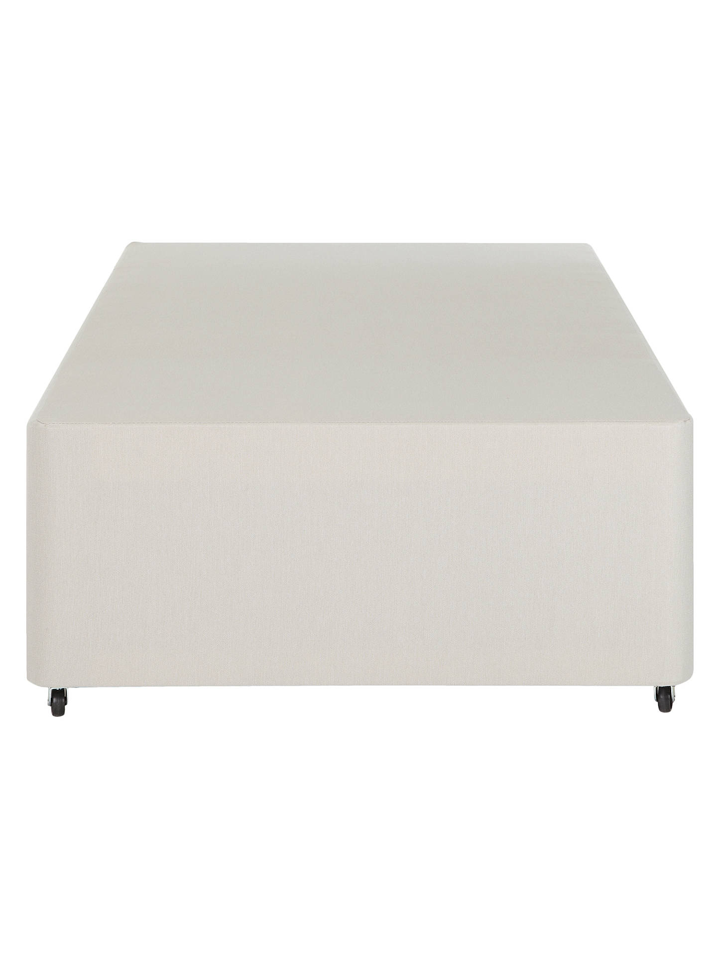 BuyJohn Lewis & Partners Non-Sprung Two Drawer Divan Storage Bed, Pebble, Single Online at johnlewis.com