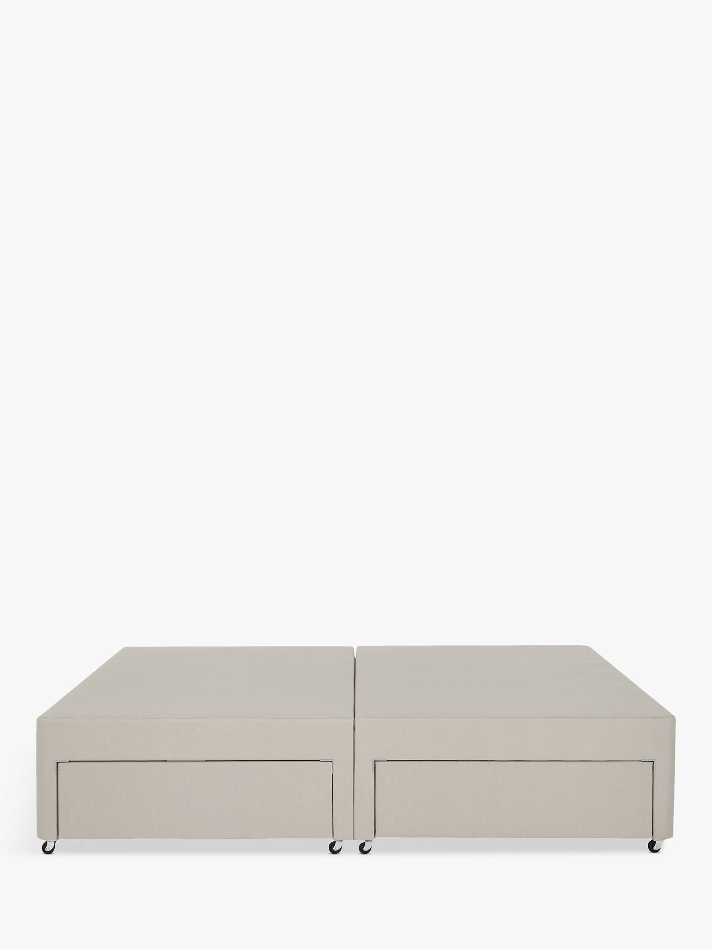 Buy John Lewis & Partners Non-Sprung 4 Drawer Divan Storage Bed, Light Grey, Double Online at johnlewis.com