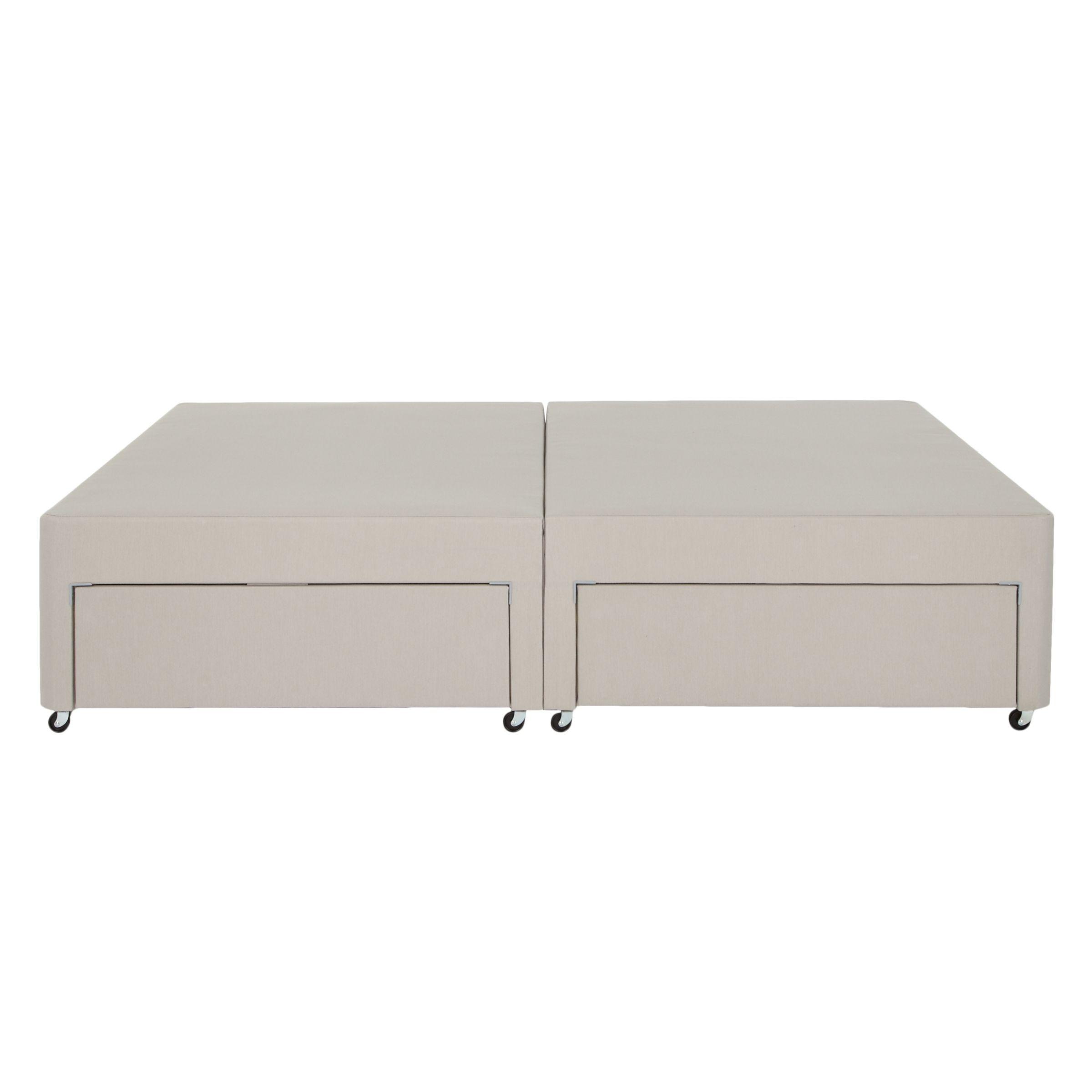 John Lewis Partners Non Sprung Four Drawer Divan Storage Bed Light Grey King Size