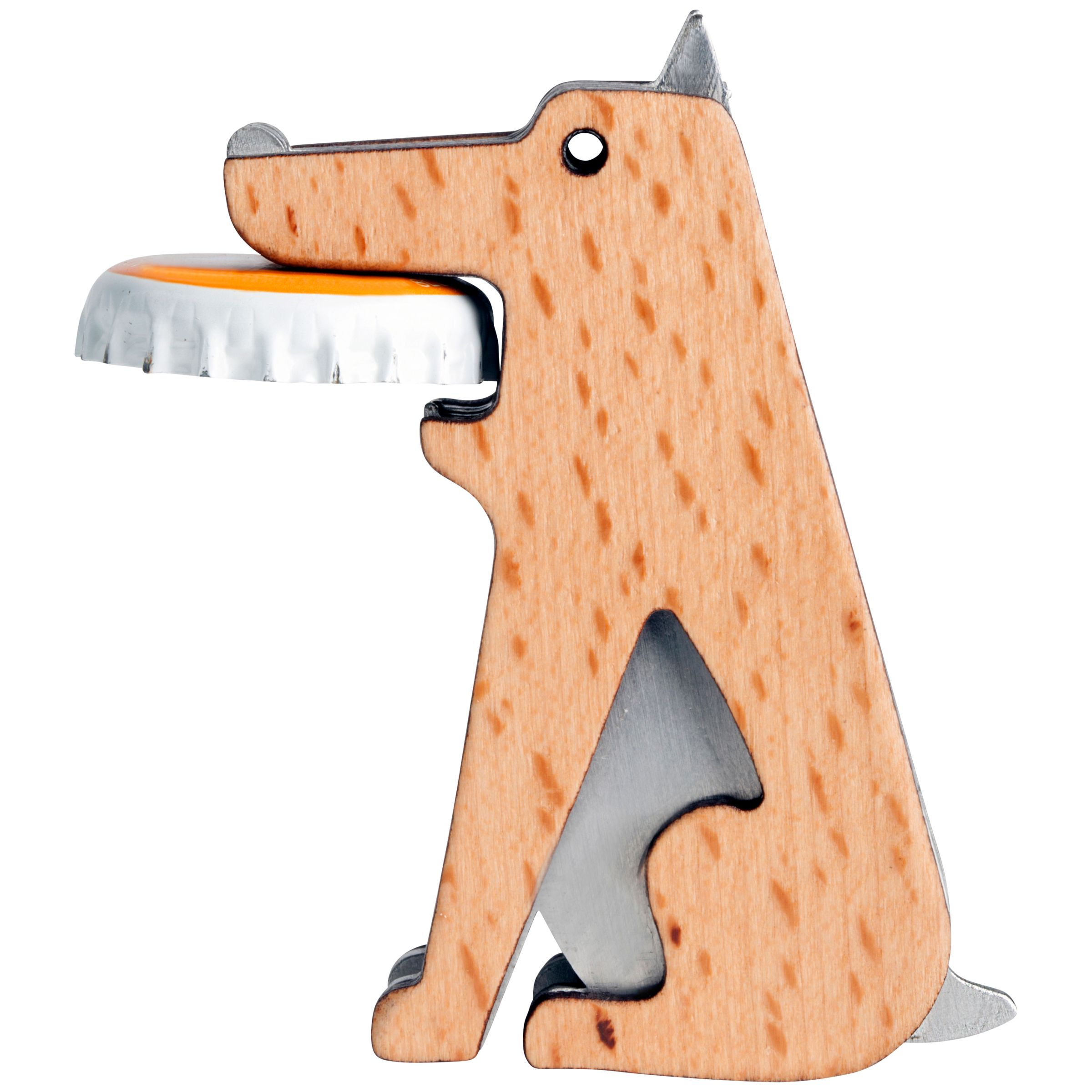 Kikkerland Kikkerland Beech Wood Dog Bottle Opener