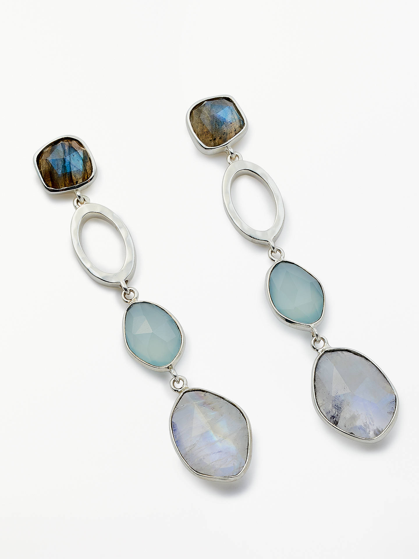 82a7651b6808 Buy John Lewis & Partners Semi-Precious Stone Drop Earrings, Silver Online  at johnlewis ...