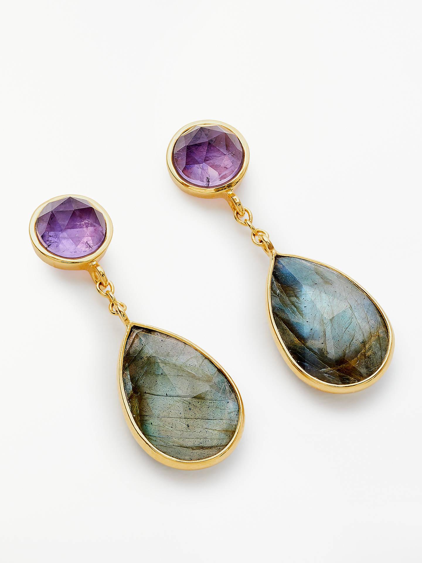 618be3da61e1 Buy John Lewis & Partners Semi-Precious Stone Teardrop Drop Earrings,  Amethyst/Labradorite ...