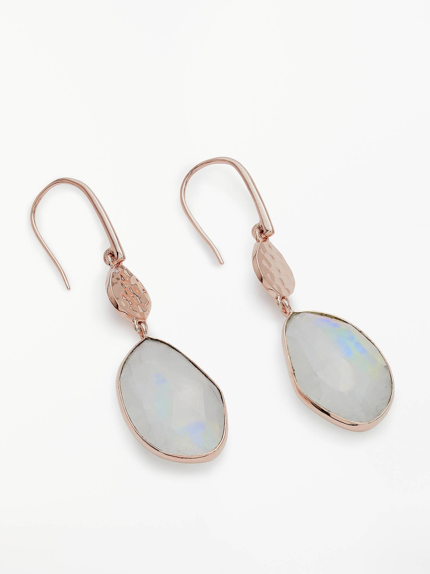 7ece33851eb3 Buy John Lewis & Partners Gemtones Hammered Disc Drop Earrings, Rainbow  Moonstone Online at johnlewis ...