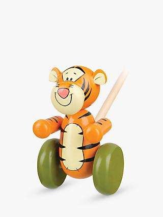 Orange Tree Winnie the Pooh Tigger Push Along Wooden Toy