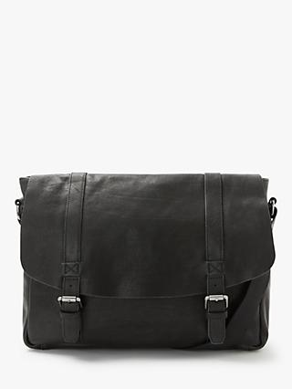 John Lewis & Partners Portland Messenger Bag, Black
