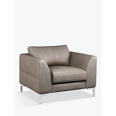 John Lewis & Partners Belgrave Leather Armchair, Metal Leg