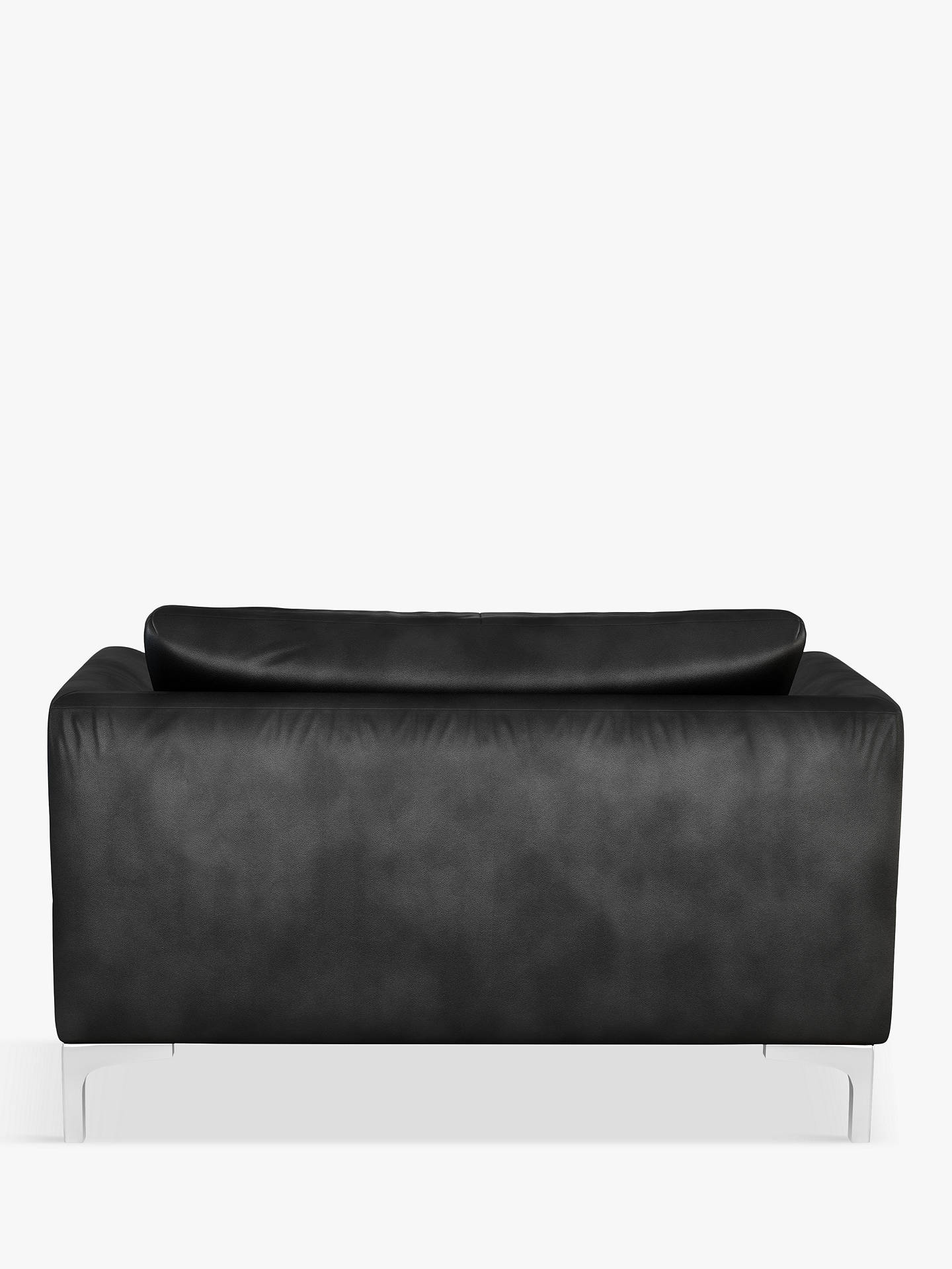 Buy John Lewis & Partners Belgrave Leather Snuggler, Metal Leg, Contempo Black Online at johnlewis.com
