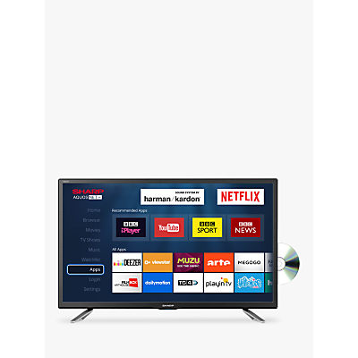 Image of Sharp LC-24DHG6131KF LED HD Ready 720p Smart TV/DVD Combi, 24 with Freeview HD/Freeview Play, Miracast & Harman/Kardon Sound, Black