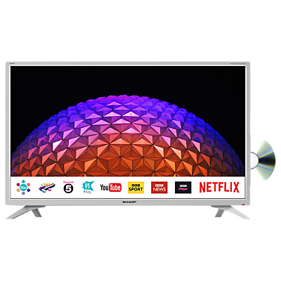 Image of Sharp LC-32DI5232KFW LED HD Ready 720p Smart TV/DVD Combi, 32 with Freeview HD/Freeview Play, Miracast & Harman/Kardon Sound, White