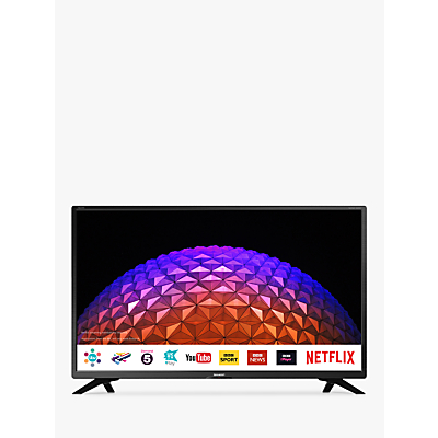 Sharp LC-32HI5432KF LED HD Ready 720p Smart TV, 32 with Freeview HD/Freeview Play, Miracast & Harman/Kardon Sound, Black